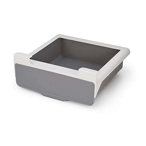 Joseph Joseph CupboardStore Under-Shelf Pull Out Drawer Storage Organizer for Cabinet, Gray