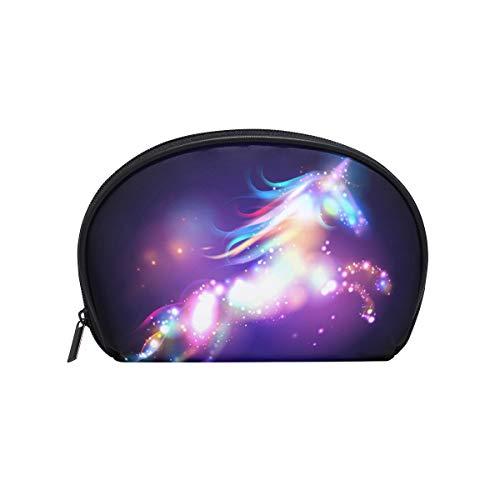 Trousse de maquillage avec fermeture à glissière cosmétique embrayage motif arc en ciel licorne sac de rangement de voyage sac carré pour femmes dame
