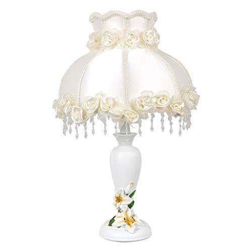 YI0877CHANG Lamparilla de Noche Lámpara de Noche de Bodas Sala Dormitorio Regalo de Boda Creativo Europeo de la lámpara Lámpara Mesilla (Color : Beige)