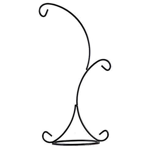 Gbcyp Glazen vaas Opknoping Design Dubbele haak Metalen IJzeren Kandelaar Kaarsenhouder Plant Glas Fles Stand Bruiloft Kantoor