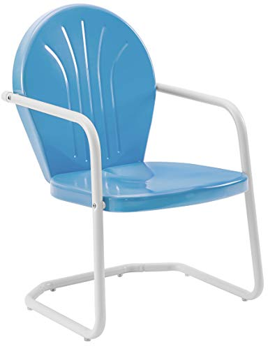 Crosley Furniture Griffith Metal Outdoor Chair - Sky Blue