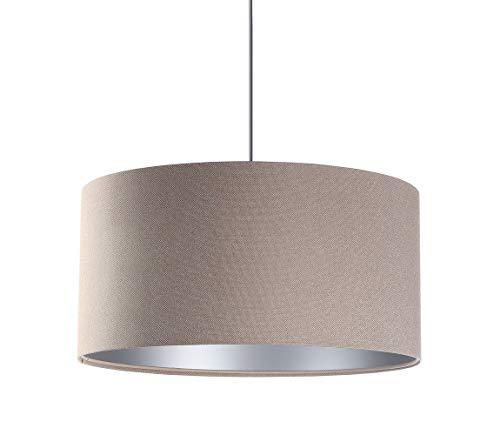BPS Koncept Glamour Daminia - Lámpara de techo (40 cm), color beige y plateado