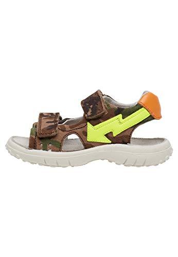 Naturino KAHIWA-Sandale mit Reißverschluss-Militärisch Militärgrüne 28