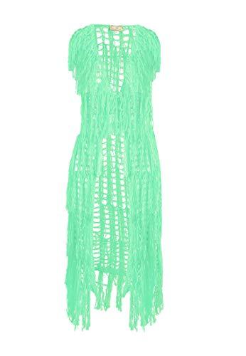 myMo Longweste Damen 12407132 neon grün, M/L