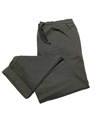 GYMNASIUM Pantalone Invernale Tuta Uomo Felpato Taglie Forti Over Colore Grigio (3XL)