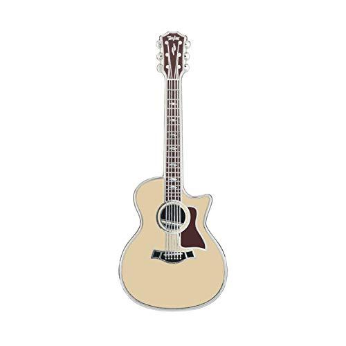 Geepins - Broche de guitarra en miniatura con diseño de guitarra, 52 mm de longitud, para llevar en mochila, camisa, chaqueta, solapa, sombrero o corbata, presentado en una bonita caja de guitarra