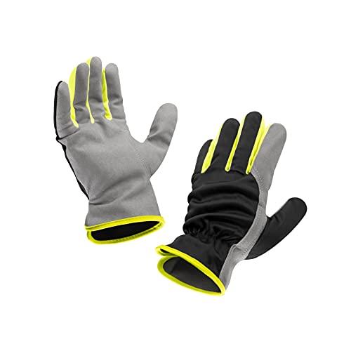 ASPRO 2 Paar Arbeitshandschuhe - Atmungsaktive, leichte Kunstlederhandschuhe für Männer und Frauen - für Gartenarbeit, Mechanik, Lagerarbeit, Outdoor, Fahren etc. L (9)