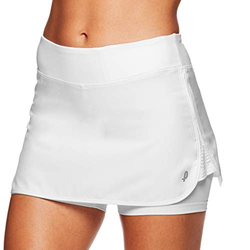 Penn Women's Active Skorts: Wide Band, Low Rise Tennis or Golf Skirt with Shorts,Stark White,Small