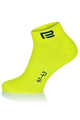 Calcetines amarillos fluor para ciclismo
