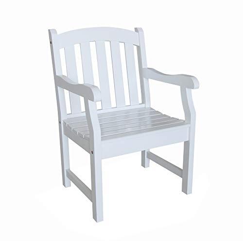 Vifah V1339 Bradley Outdoor Wood Armchair (white) $95.85 + Free shipping