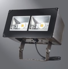 "Lumark NFFLD-A25-T LED Floodlight, NFFLD, 85W, 4000 K, 120-277V, 6"" x 6"", Trunnion, CBN-BZ"