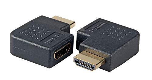 EFB-Elektronik Wentronic - Adaptador HDMI (2 conectores HDMI-A,BU.-St, acodado a la izquierda),...
