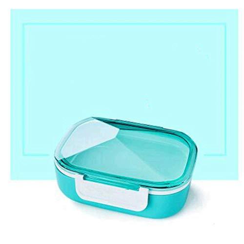 JJZXT Box lunch - Compartimiento a prueba de fugas de contenedores de almacenamiento de alimentos, trabajo, hogar, escuela, comidas de preparación, control de la porción, secos o líquidos, hombres, mu