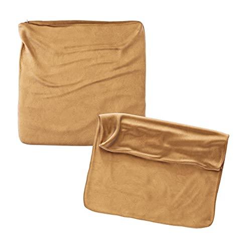 Cojines Sofa 45x45 Color Oro Pack de 2 Fundas de cojin Decorativos para Sofa , Cama , Salon / Funda de Terciopelo Elegantes y Modernas para la decoración del hogar sin Relleno