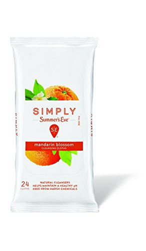 Simply Summer's Eve Cleansing Cloth, Mandarin Blossom, 24 Count