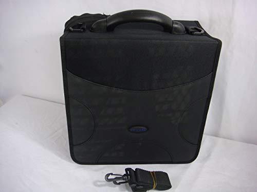 CD Care 520 CD/DVD Binder PU Leather Nylon Material Plus Bonus Carrying Strap Reinforced Handle (Frustration-Free Packaging) (Full Black)