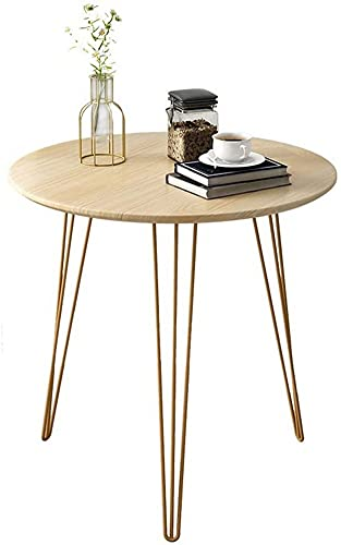 ZGYZ Modern Furniture Retro Hairpin Leg End Table Table Living Room Sofa Side Table Simple Balcony Small Round Table Moveable,60x60cm