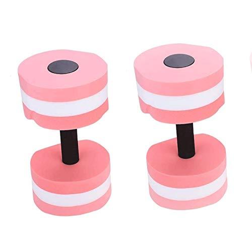 EIIDJFF Juego de mancuernas para mujer, de espuma, de gran resistencia, para piscina, para ejercicios de musculación, entrenamiento, fitness, yoga (color: rosa)