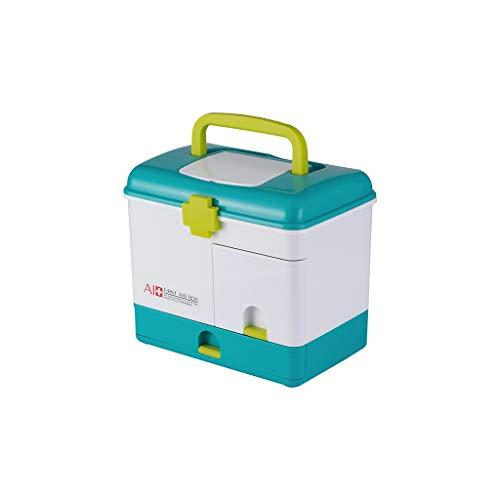 Zoavash Haushalt Große Kapazität Medizin Box Multi-Layer-Medikament Aufbewahrungsbox Erste-Hilfe-Box Tragbar Hyococ