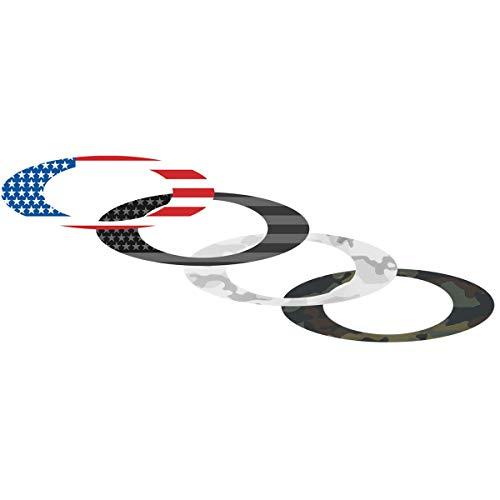 Oakley 211-006-001 Unisex-Erwachsene Sticker Pack Small USA Flagge/Camo Ersatzgläser USA 0mm