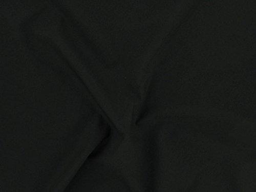Dalston Mill Fabrics - Tessuto in Policotone (65% poliestere/35% Cotone), 2 m, Colore: Azzurro, Nero, 2