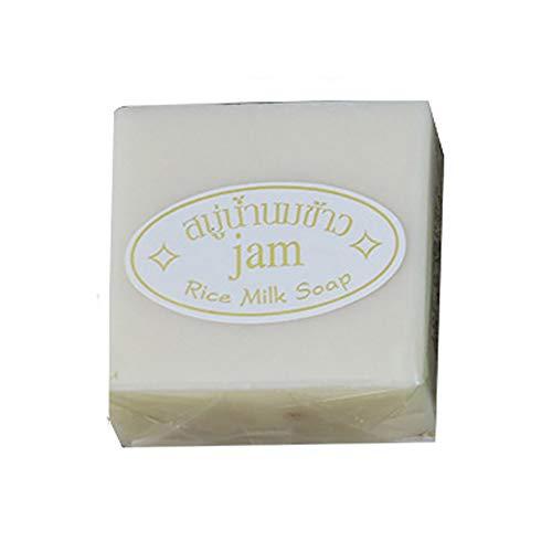 YSoutstripdu Jabón, 60g Espuma Rica Hecha a Mano hidratante de baño de Piel de Manos Limpieza jabón de Leche de arroz