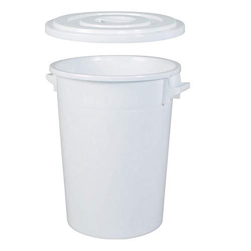 BRB 100 Liter Futtertonne/Vorratstonne für Trockenfutter, mit Deckel, lebensmittelecht, Außenmaße Ø Oben/unten 520/415 mm, H 670 mm