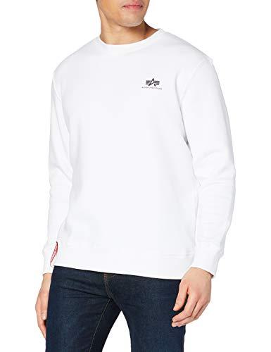 ALPHA INDUSTRIES Herren 188307 Sweatshirt, Blanco, L Regular