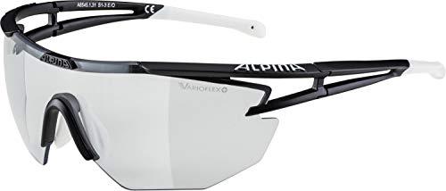 ALPINA EYE-5 SH. VL+ Sportbrille, Unisex– Erwachsene, black-white, one size