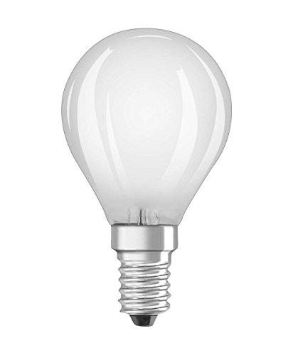 Osram Ampoule LED à Filament Dépolie | Culot E14 | Forme Standard | Dimmable | Blanc Froid 4000K | 5W (équivalent 40W)