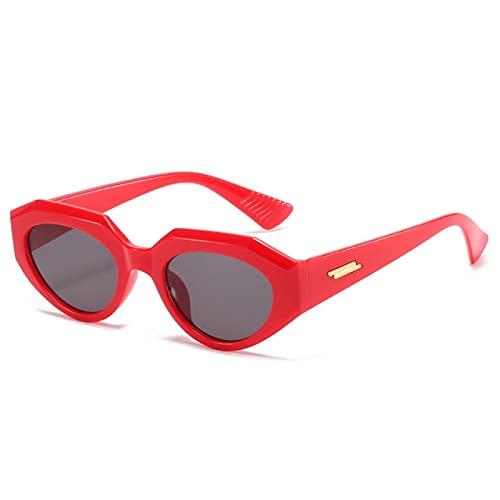 NBJSL Gafas de sol con forma de ojo de gato para mujer, gafas de sol con montura pequeña Retro Vintage a la moda para mujer, protección Uv400 para mujer (caja de embalaje exquisita)