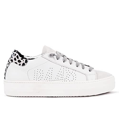 P448 Sneaker Leopardenmuster / Weiß Thea, Weiß - weiß - Größe: 38 EU