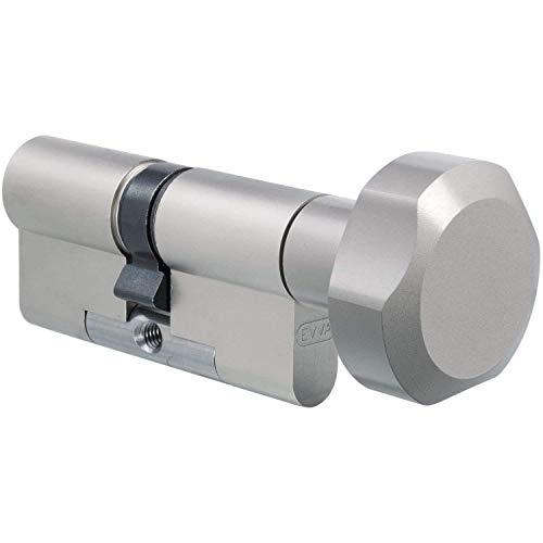 EVVA 3KS Plus Knaufzylinder 31/31K inkl. 5 Schlüssel - 3-Kurven System Zylinder - Hochsicherheitszylinder - Modulare Bauweise - verschiedenschließend (K=Knaufseite)