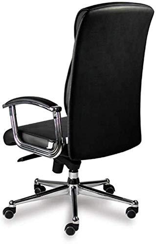 Silla de ordenador ergonómica de respaldo alto, giratoria, ajustable para oficina con ruedas, diseño ergonómico, silla elevable, silla de escritorio de oficina ajustable con ruedas (color negro).