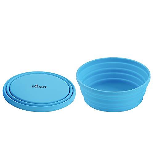 PPuujia Cuenco de mezcla de 680 ml de silicona de grado alimenticio, plegable, plegable, de 4 colores, para viajes, portátil, vajilla al aire libre, para camping, senderismo (color azul)