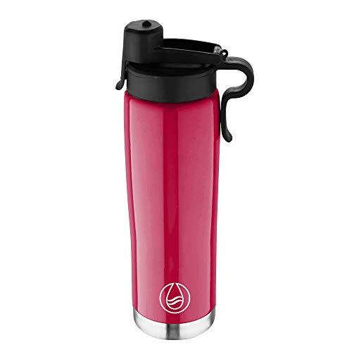 BERGNER Q3089 Botella termo 500ml acero inoxidable rosa Walking anywhere, Aluminio