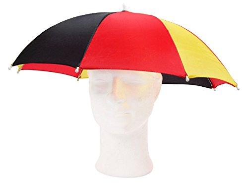 Alsino Kopfregenschirm Deutschland WM Sonnenschirm Fan Kopfsonnenschirm 00/0770 Schirmhut Regenschirm Kopfschirm