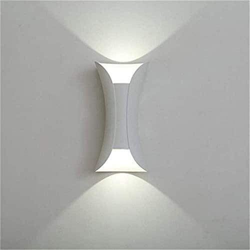 ZJJZ Lámpara de Pared IP65 Impermeable para Exteriores, Luces LED para Arriba y Abajo, Luces de Pared LED de 5 W * 2, Aplique de Aluminio Moderno, para Garaje, terraza, barandilla, Patio, ático,