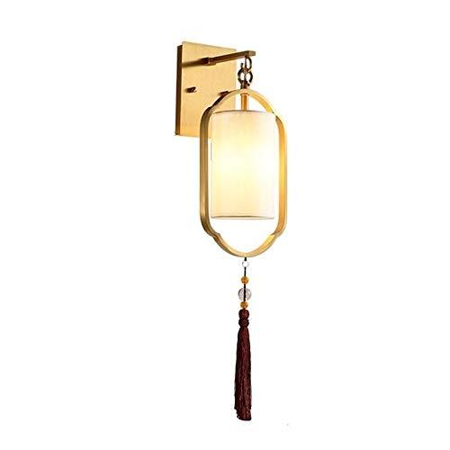 Aplique de pared clásico aplique Lámpara de pared, aplique de cobre de la lámpara de la personalidad, luces de la pared del balcón de la sala de estar, accesorios de iluminación de la pared Aplique de