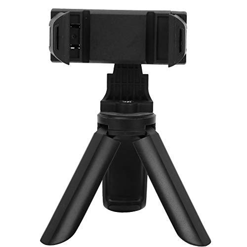 Mini soporte para trípode para teléfono, trípode para selfies, soporte para trípode de escritorio plegable con clip de teléfono giratorio de 360 ° desmontable compatible con todos los teléfonos Cáma