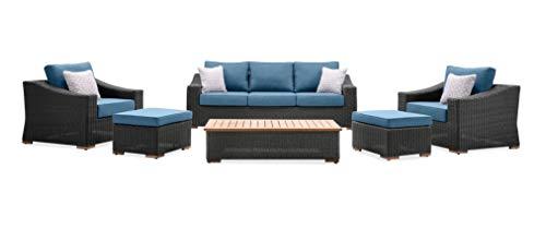 La-Z-Boy - Juego de 7 muebles de terraza o jardín para exterior