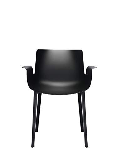 Kartell Piuma Silla, Negro, 62 x 77 x 54 cm