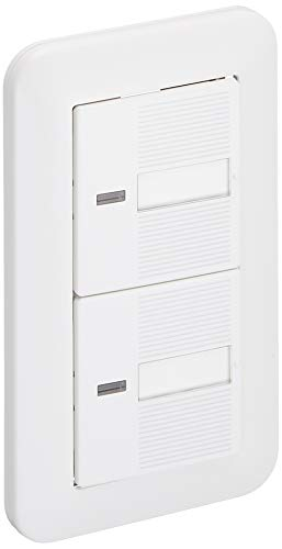 パナソニック 埋込ほたるダブルスイッチB(片切) ホワイト パック商品 WTP50512WP