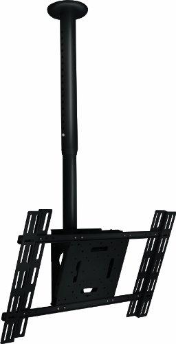 B-Tech BT8427/B Neig- und ausziehbare Universal Flachbildschirm-Deckenhalterung (Displaygröße bis 165 cm (65 Zoll), Belastbarkeit 70kg, VESA, 800 x 500mm) schwarz