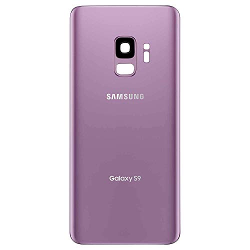 Best Back Glass Cover Back Door w/Pre-Installed Camera Lens - w/Adhesive and Removal Tool for Samsung Galaxy S9 G960 All Models (Purple)