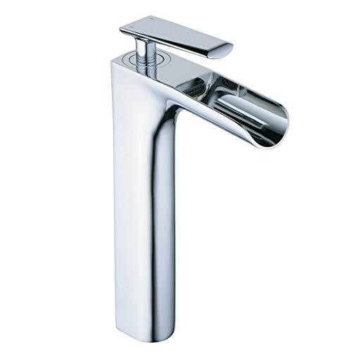 Waschtischarmaturen Wasserfall Wasserhahn Bad Mischbatterie Badarmatur Waschbeckenarmatur Waschbecken Badezimmer Hoch, Leekayer