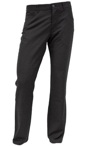 ALBERTO Regular Slim Fit Hose Feinstreifen schwarz Größe W38 L30