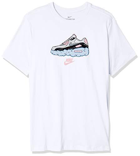 Nike Air Max 90 T-Shirt, Bianco, L Uomo