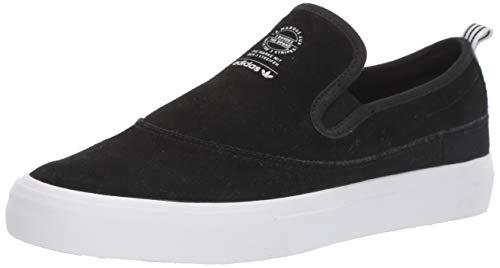adidas Originals Men's Matchcourt Slip Sneaker, Black/White/Gum, 10 M US