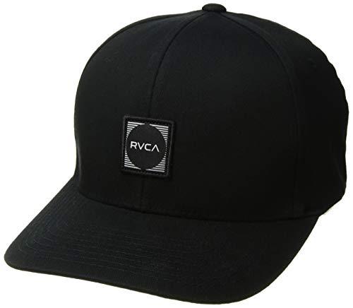 Preisvergleich Produktbild RVCA Herren Flexfit Scores HAT Baseball Cap,  schwarz,  1X / L